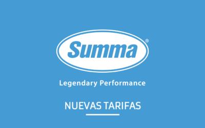 Nueva Tarifa SUMMA